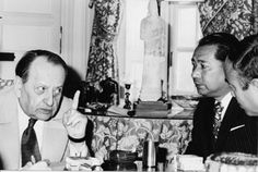 Daisaku Ikeda with French author and statesman André Malraux in Paris, 1975. Ikeda has met and held dialogues with some 1,600 individuals in diverse fields of endeavor. (I love that guy's face! Lol!)
