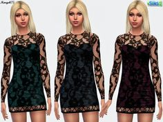 Sims 3 Addictions: Jolie dress by Margies Sims • Sims 4 Downloads