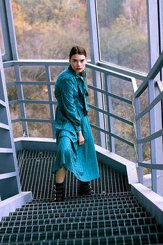 VivienMihalish / Tyrkysové bavlnené šaty vo vintage štýle s mašľou My Style, Clothes, Fashion, Outfits, Moda, Clothing, Fashion Styles, Kleding, Outfit Posts