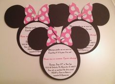 Set of 10 Minnie Mouse or Mickey Mouse by MountainViewCreation
