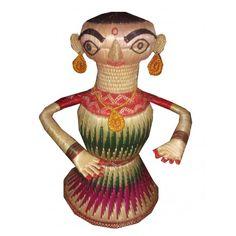 Radha Beautiful Artwork of Doll made of Sikki