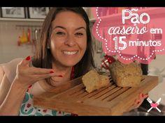 Receita de Pão 50% Integral Caseiro em 15 minutos - Como fazer Pão Integral ...