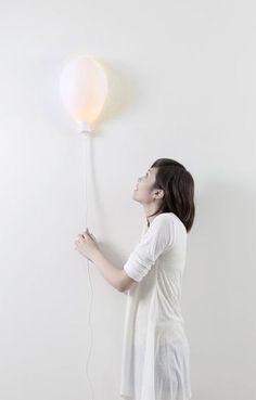 balloon lamp. how fun! like this sweet design by Haoshi