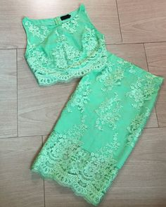 Lime Green Lace Two Piece Homecoming Dresses 2017 Short Prom Party Dress