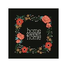 potential DIY art project with hand-lettering and watercolor rifle-inspired flowers original: Home Sweet Home by MAEK Paper for Minted