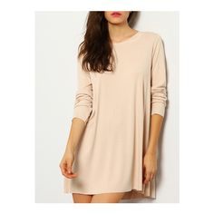 SheIn(sheinside) Pink Long Sleeve Backless T-Shirt ($13) ❤ liked on Polyvore featuring tops, t-shirts, pink, longsleeve t shirts, long sleeve stretch top, longsleeve tee, long sleeve backless top and backless t shirt