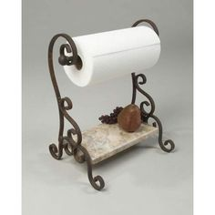 Bentley Iron And Limestone Paper Towel Holder - a little expensive, but so pretty!