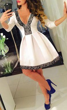 Lace Spliced Pleated Mini Dress Women's Dresses - Dress for Women - http://amzn.to/2j7a1wP