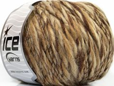 Fiber Content 65% Acrylic 25% Wool 10% Viscose Brand ICE Cream Brown Beige fnt2-40518