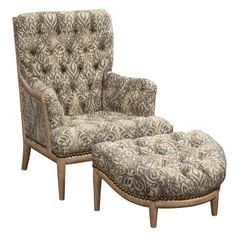 Chair 3735-03SW-1250-233            Tuffed Ottoman 3735-04-1250-233 Tuffed Ottoman, Chair And Ottoman, Armchair, Fine Furniture, Furniture Design, Bucket Chairs, Formal Living Rooms, Chair Design, Bedroom
