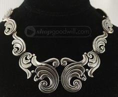 shopgoodwill.com: Gorgeous Lopea Taxco Sterling Scroll Necklace