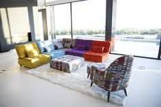 Modern style Arianne Love sectional by Fama. Classic piece of contemporary furniture and design. Modular Sectional Sofa, Modern Sectional, Modern Sofa, Vintage Sofa, Look Vintage, Module, Outdoor Furniture Sets, Outdoor Decor, Contemporary Furniture