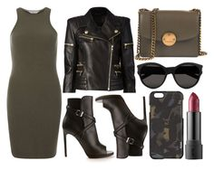 """street style"" by sisaez ❤ liked on Polyvore featuring Balmain, Dorothy Perkins, Yves Saint Laurent, Marc Jacobs and Tumi"
