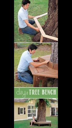 Creative Beginners Friendly Woodworking DIY Plans At Your Fingertips With Projec. Creative Beginners Friendly Woodworking DIY Plans At Your Fingertips With Project Ideas, Tips and T Backyard Projects, Outdoor Projects, Diy Projects, Project Ideas, Pallet Projects, Garden Projects, Sewing Projects, Tree Bench, Tree Seat