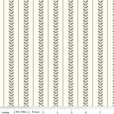 """Riley Blake Verona stripe in gray. 1"""" between stripes. Fantastic fabric, fabulous feel, 100% cotton. Time to build up your stash, very versitale fabric, great with teals, pinks, yellows."""