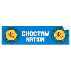 Choctaw Seal Bumper Sticker indians native american emblem flag