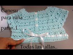 Crochet Dress Girl, Crochet Girls, Crochet Baby Shoes, Crochet For Kids, Knit Crochet, Vestidos Bebe Crochet, Crochet Patterns For Beginners, Crochet Videos, Embroidery Kits