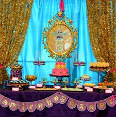 Arabian Nights / Princess Jasmine Birthday Party ~ Wow check out all the beautiful details, love it!