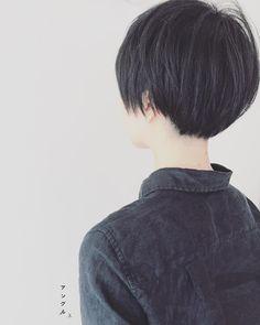 Black, short hair