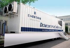 Foxconn's data center container business is up against some heavyweight competition, such as Emerson Network Power, whose data center container is pictured here (Image: Emerson)