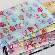 SALE) w161 - scrap bundle - Macaron fabrics - 6 pieces x (28cm x 30cm) by billycottonshop0413 on Etsy