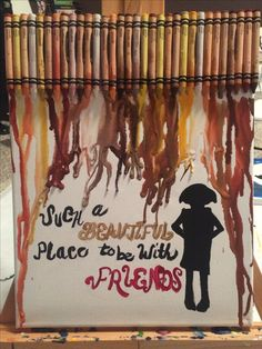 Harry Potter, Dobby melted crayon canvas fan art. Such a beautiful place to be with friends.