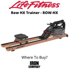 The Row HX Trainer from Life Fitness is a rowing machine which uses water for resistance to provide a low-impact, total-body workout at home. The patented adjustable Fluid Technology resistance system with nylon belt drive delivers a smooth and natural feel stroke after stroke for a consistently comfortable and effective workout. Body Workout At Home, At Home Workouts, Cardio Equipment, Belt Drive, Rowing, Total Body, Trainers, Smooth, Technology
