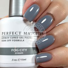 LeChat Perfect Match Fog City swatch by Chickettes.com