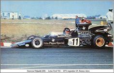GP Argentina 1972. Emerson Fittipaldi. Lotus 72