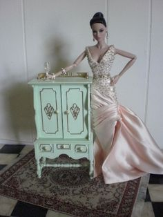 1:6th Scale Seri Principessa doll credenza by Pumpkin Hill Studios, via Flickr
