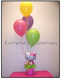 Hello Kitty Balloon party centerpiece
