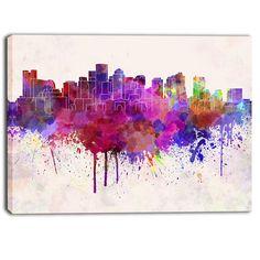 DESIGN ART Designart - Boston Skyline - Cityscape Artwork Print