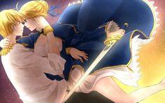 Fate Stay Night Gilgamesh Anime Saber Anime Girls Swords Archer Fate Series  950x725 HD Wallpaper