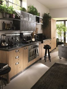 Are You Inspired? Visit Us For More Industrial Kitchen Inspirations Industrial Kitchen Design, Interior Design Kitchen, Industrial Loft, Vintage Industrial, Industrial Living, Industrial Bedroom, Industrial Bookshelf, Industrial Windows, Industrial Apartment