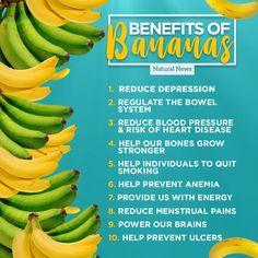 Vorteile von Bananen - New Ideas Benefits Of Eating Bananas, Banana Health Benefits, Healthy Fruits, Healthy Life, Healthy Choices, Health And Nutrition, Health And Wellness, Banana Nutrition Facts, Nutrition Tips