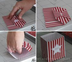 Sweet Little Parties: {create} mini popcorn boxes tutorial Popcorn Cones, Popcorn Bags, How To Make Popcorn, Pop Corn, Paper Cones, Birthday Gifts For Boyfriend, Origami Tutorial, Paper Folding, Diy Box