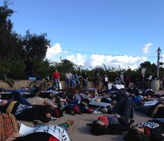 """SAN DIEGO -- Protesters gathered Saturday in Balboa Park as part of a National Day of Resistance, protesting police brutality and racial profiling, police said. """"About 150 people were in El Prado s..."""