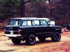 "asshats-anonymous: ""radracerblog: ""1973 Jeep Wagoneer Lifted "" I need this in my life """