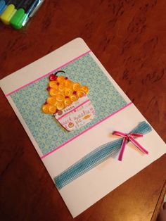 Quilled cupcake card