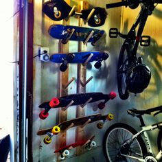 DIY Skateboard Rack. 2x4u0027s And A Cut Up Dowel Rod. Awesome For Keeping  Skateboards
