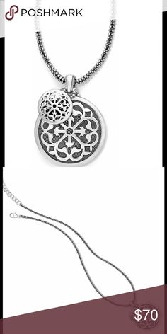 """NWT Brighton necklace ferrera Thedesigner has paired two discs along a chain for a flawless layered look. Each pendant on this necklace features a contemporary arabesque pattern, one pierced, one granulated.Closure: Lobster Claw Length: 18"""" - 20"""" Adjustable Pendant Drop: 2"""" Finish: Silver plated.  To keep it clean, just wipe down your piece with a dry 100% cotton cloth Keep it away from water, jewelry cleaners, and harsh chemicals It is not designed to be worn 24/7, so give your beautiful…"""