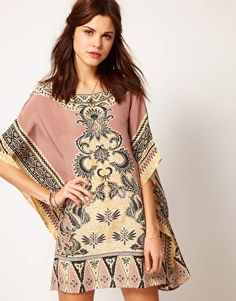 Winter Kate by Nicole Ritchie Printed Silk Shift Dress