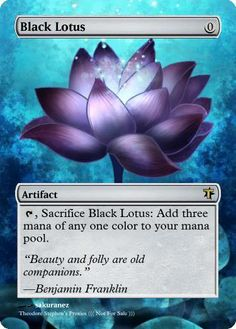 Magic The Gathering Black Lotus Proxy