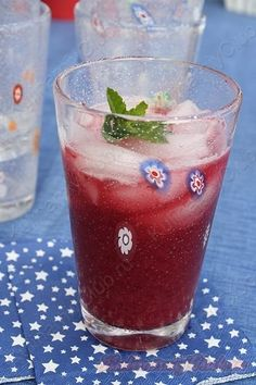 Вишнёвый лимонад с мятой on http://kulinarniyclub.ru Cherry mint lemonade