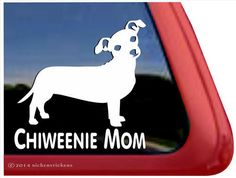 Chiweenie Mom DC263MOM High Quality Adhesive by NickerStickers