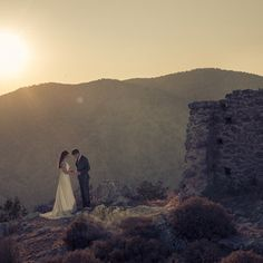 Beautiful couple on Chios by Manes Wedding Photographer