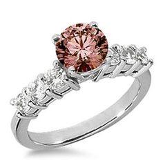 1.58 Karat Pink Diamant Ring aus 585er Weißgold. Ein Diamantring aus der Kollektion Pink von www.pearlgem.de