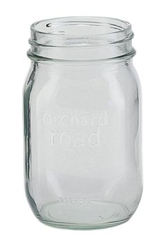 Orchard Road Pint Regular Mouth Canning Jar - What a perfect jar for your Apple Butter or Apple Sauce!