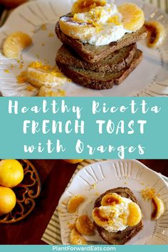 This French toast recipe combines sweet mandarin oranges with creamy ricotta for a delicious, protein-rich breakfast. #frenchtoast #proteinbreakfast #highproteinbreakfast #highproteinrecipes #vegetarianrecipes Mandarin Oranges, Healthy French Toast, Protein Rich Breakfast, Vegetarian Recipes, Healthy Recipes, Orange Recipes, High Protein Recipes, Diet And Nutrition, Vegetarische Rezepte