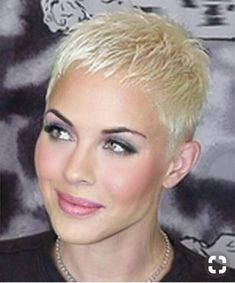 Icy Short Pixie Cut - 60 Cute Short Pixie Haircuts – Femininity and Practicality - The Trending Hairstyle Super Short Hair, Short Grey Hair, Short Hair Cuts For Women, Short Hairstyles For Women, Very Short Pixie Cuts, Edgy Pixie, Simple Hairstyles, Vintage Hairstyles, Straight Hairstyles